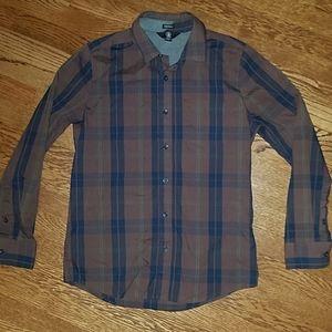Volcom long sleeve button down shirt